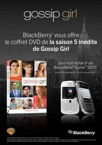 BlackBerry® vous offre le coffret DVD de la saison 5 inédite de ...
