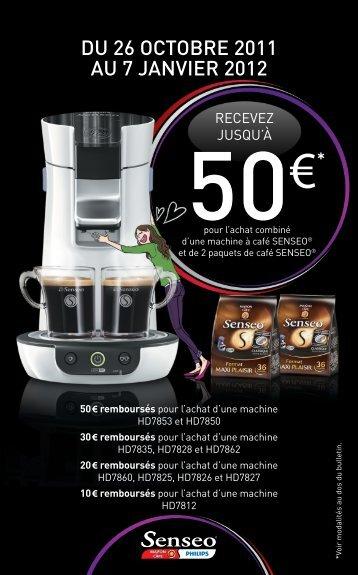 Offre de remboursement Philips Senseo Noël 2011 - Saveur Café