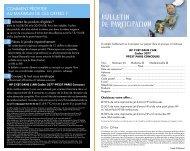 Bulletin de participation - Rue du Commerce