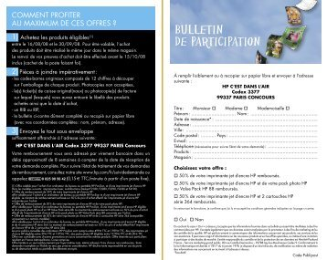 Bulletin de participation - Rue du Commerce