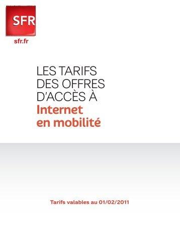 LES TARIFS DES OFFRES D'ACCÈS À Internet en mobilité - Rue du ...