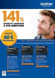 60 € remboursés : Du 1er décembre 2012 au 31 janvier 2013