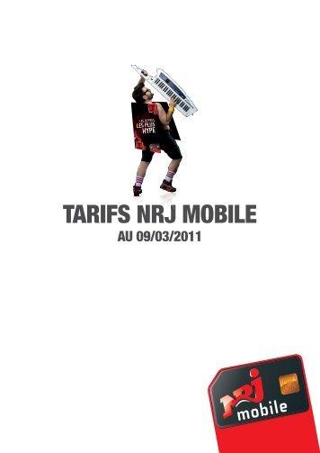 TARIFS NRJ MOBILE - Rue du Commerce