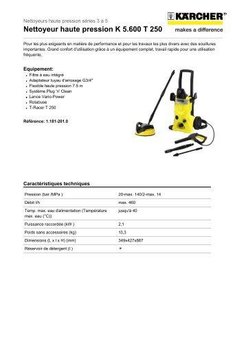 Nettoyeur haute pression K 5.600 T 250 - Rue du Commerce
