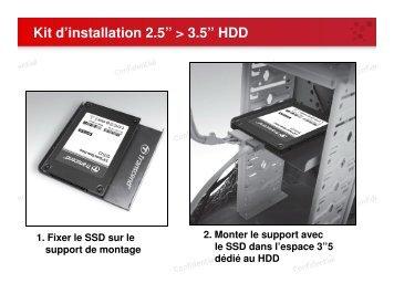"""Kit d'installation 2.5"""" > 3.5"""" HDD - Rue du Commerce"""