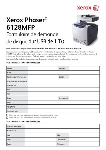 Xerox Phaser® 6128MFP - Rue du Commerce