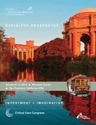 Exhibitor ProsPEctus - Society of Critical Care Medicine
