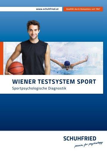 """Katalog """"Wiener Testsystem SPORT"""" - SCHUHFRIED GmbH"""