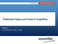 Praktische Tipps und Tricks in CogniPlus