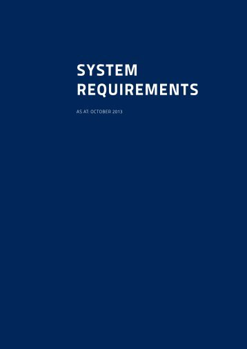 System requirements VTS (PDF) - Schuhfried.com