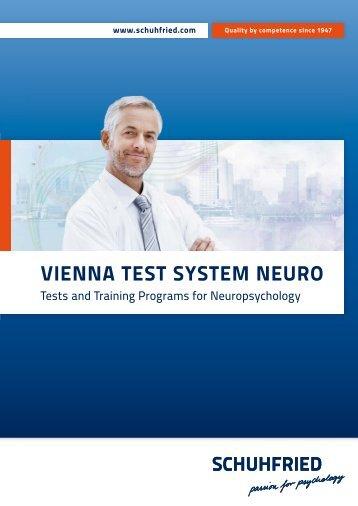 """""""Vienna Test System NEURO"""" (PDF) - Schuhfried.com"""