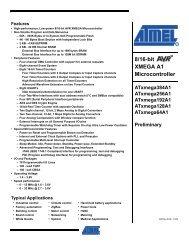 8/16-bit XMEGA A1 Microcontroller - Datasheets