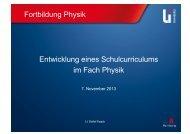 Fortbildung Physik Entwicklung eines Schulcurriculums im Fach ...