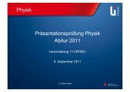 Physik Präsentationsprüfung Physik Abitur 2011 - Schul-Physik