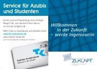 Service für Azubis und Studenten - Luftfahrtwerkstatt