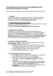 Verwaltungsvorschrift Verabreichung von Medikamenten bei ...