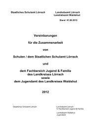 Vereinbarungen für die Zusammenarbeit von Schulen / dem ...
