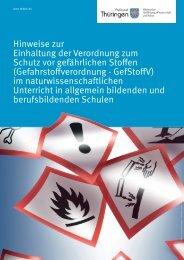 Gefahrstoffverordnung - GefStoffV - Staatliches Schulamt ...