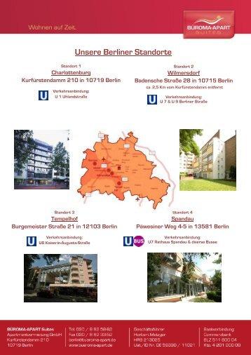 Angebote Region Berlin - Büroma-Apart
