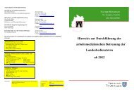 Hinweise zur Durchführung der arbeitsmedizinischen Betreuung der ...