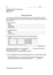 Antragsformular für Zuschüsse an Berufsschüler - Staatliches ...