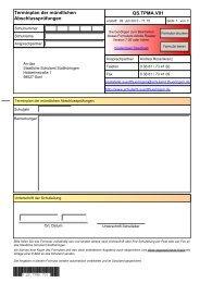 Terminplan der mündlichen Abschlussprüfungen - Staatliches ...