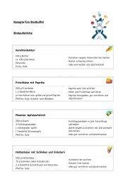 Rezepte fürs Brotbuffet Brotaufstriche - Staatliches Schulamt ...
