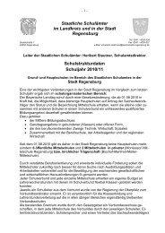 Staatliche Schulämter im Landkreis und in der Stadt Regensburg ...