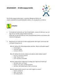 Arbeitsblatt – Ernährungspyramide - Staatliches Schulamt ...