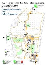 Das Programm des Umweltforums 2013 - Schulbiologiezentrum Hannover