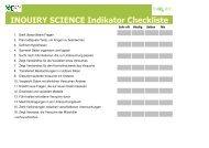 1. Checkliste für eine formative Schülerevaluation