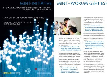 MINT-INITIaTIve MINT – woruM gehT es?