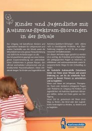 Kinder und Jugendliche mit Autismus-Spektrum-Storungen in der ...