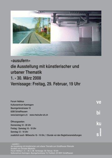 ausufern - Schulblatt Schaffhausen