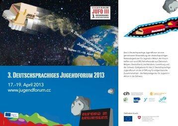 3. Deutschsprachiges Jugendforum 2013