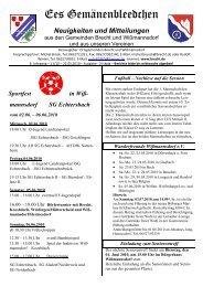 mannsdorf SG Echtersbach - BRECHT.DE online