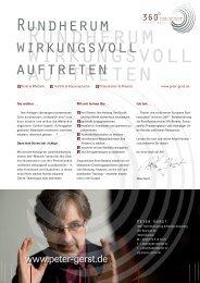 Download: Flyer Peter Gerst - DENKHAUS Werbeagentur Gmbh