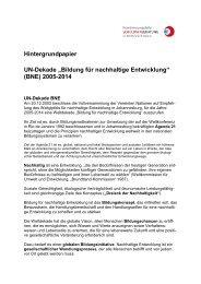 """Hintergrundpapier UN-Dekade """"Bildung für nachhaltige Entwicklung ..."""