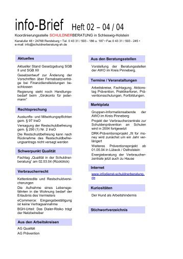 info-Brief Heft 02 – 04 / 04 - SB SH