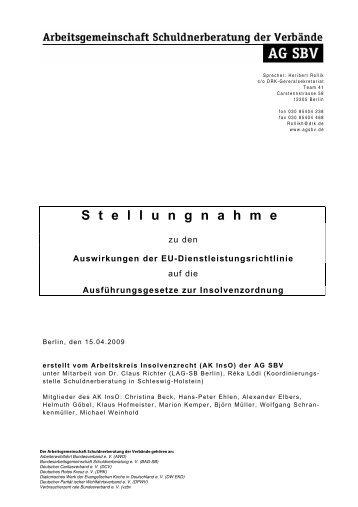 """Entwurf der Bund-Länder-Arbeitsgruppe """"Modernisierung ... - SB SH"""