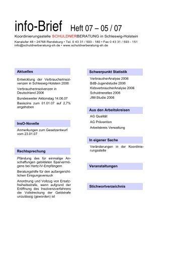 info-Brief Heft 07 – 05 / 07 - SB SH