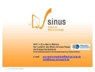 e-mail: eva-maria.muehleis@polizei.nrw.de info@sinus-netzwerk.de