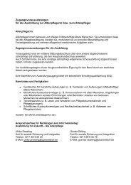 Informationen zum Berufsfeld