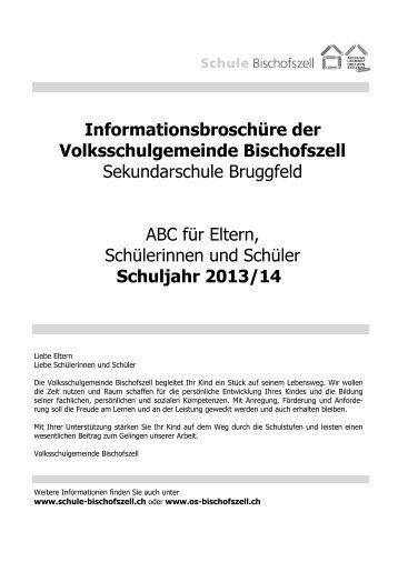 Informationsbroschüre der Volksschulgemeinde Bischofszell ...