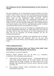 Das Kolloquium bei der Präsentationsprüfung im Fach Literatur ...