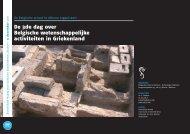 De 3de dag over Belgische wetenschappelijke activiteiten in ...