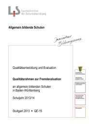 Qualitätsrahmen zur Fremdevaluation - Landesbildungsserver ...