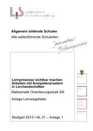 Lernwegelisten Mathematik - Landesbildungsserver Baden ...
