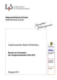 Bericht zur Evaluation der Vergleichsarbeiten DVA 2012 ...
