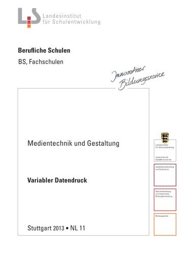 Variabler Datendruck - Landesbildungsserver Baden-Württemberg
